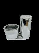 Dispenser p/ detergente e bucha (Prata)