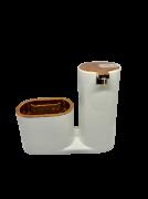 Dispenser p/ detergente e bucha (Rosê)