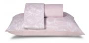 Jogo Cama Microfibra Casal Estampado Rosa Real 4 Peças - Casa com Casa