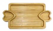 Petisqueira de bambu com 3 divisórias