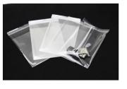 Saco Adesivado  Plástico Transparente 8,5 x12 C/ 100un