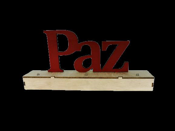 PLACA DECOR MESA - PAZ