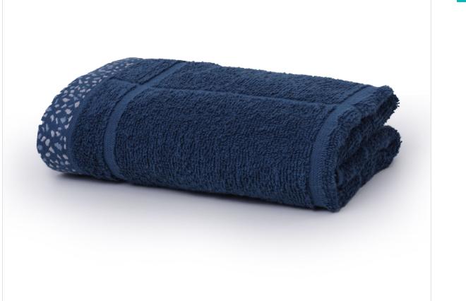 Toalha Fio Penteado Azul Escuro-70 x 1,35
