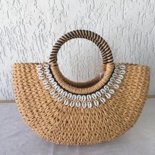 Bolsa de Palha com detalhes de Concha