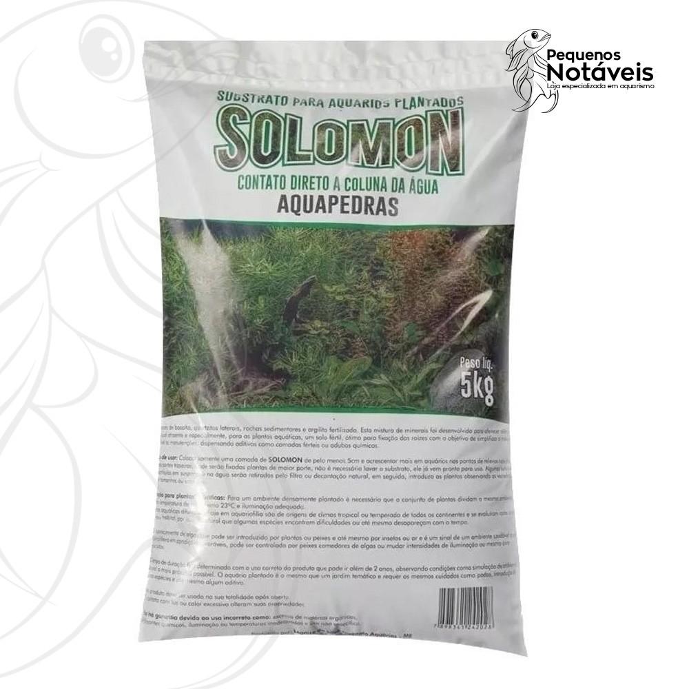 Substrato Fértil Solomon 5kg Aquapedras  - Pequenos Notáveis