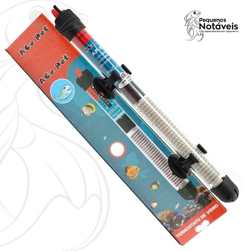 Termostato de Vidro Ace Pet 25w a 500w - 127v  - Pequenos Notáveis