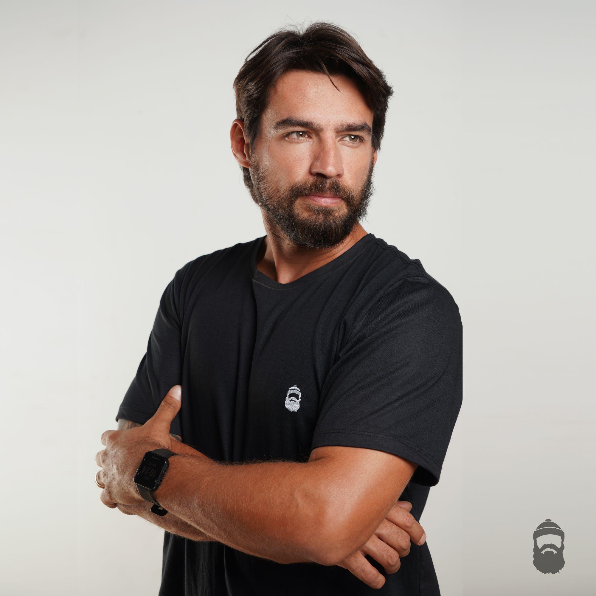 Camiseta Barbudinho Preta