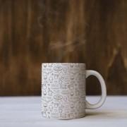 Caneca com estampa de café