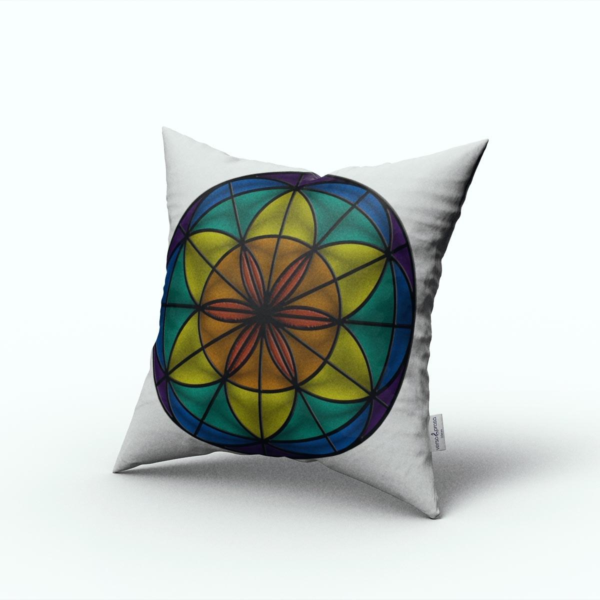 Almofada mandala flor da vida