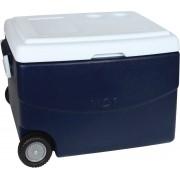 Caixa Termica Mor Glacial 70 Litros Com Rodas Alça Desague Azul Cooler