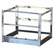 Suporte Multinivel Kit Para Churrasqueira Inox 50x50 Com Três Alturas