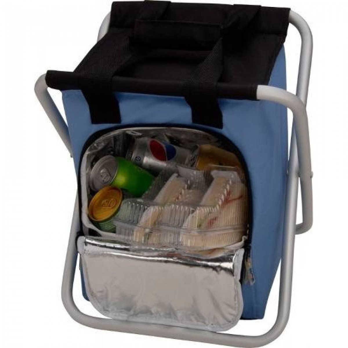 Banqueta Cooler Bolsa Térmica 25 Litros Dobrável Camping Pescaria - Mr8 3630 MOR