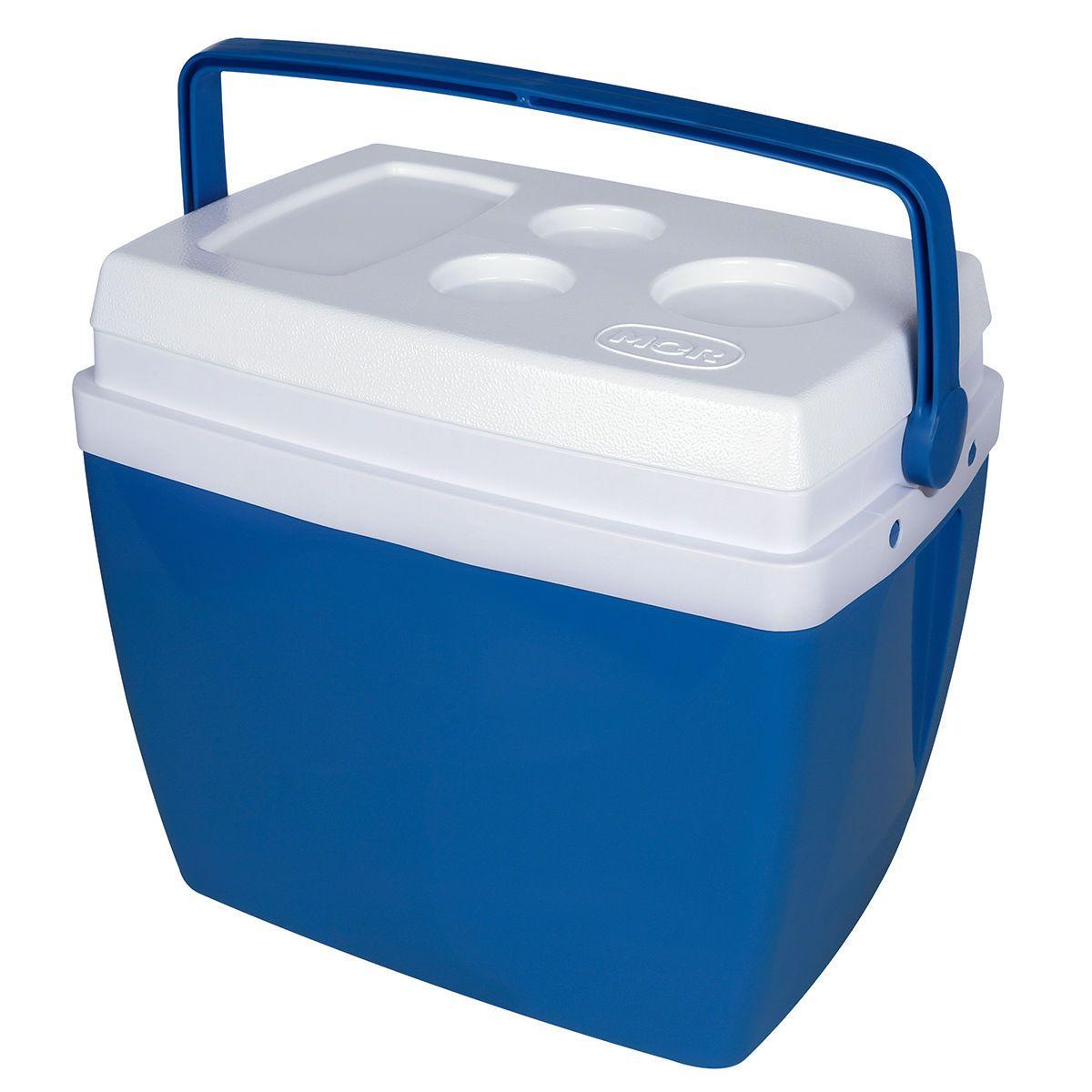 Caixa Termica Cooler 34 Litros Azul Mor