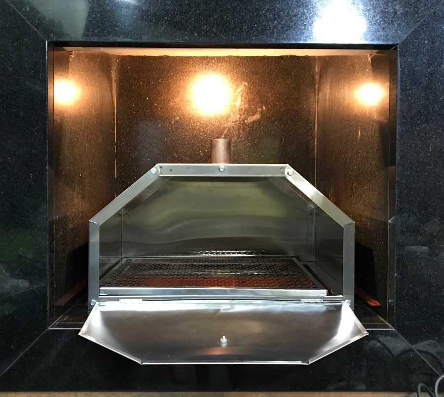 Forno de Pizza Inox para Churrasqueira com Grelha e Assadeira 60x45