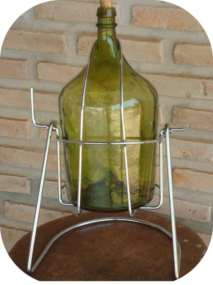 Suporte Cromado para Garrafão Tombador Pingômetro Vinho