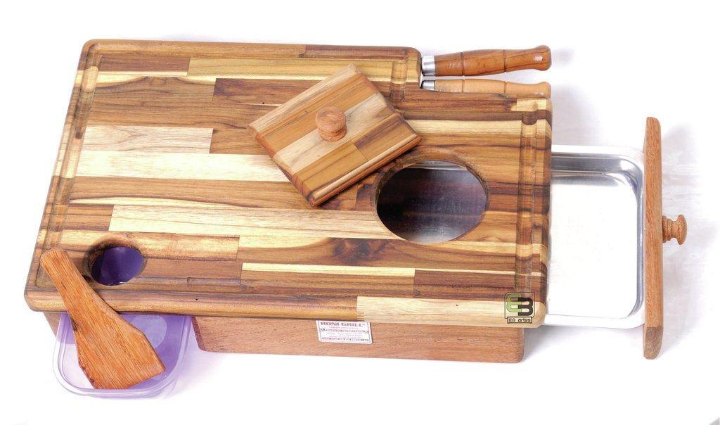 Tabua inteligente para churrasco baby grill pequena 48x32