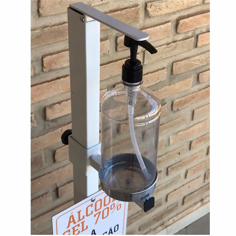 Totem Dispenser Alcool Gel com Pedal Sem as Mãos