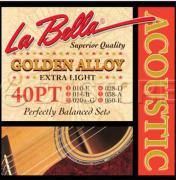 ENCORDOAMENTO PARA VIOLÃO AÇO golden olloy LIGHT LA BELLA 0.10 40tp