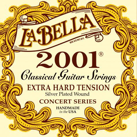 Encordoamento para Violão La Bella 2001 Classical Extra Hard Tension 2001EH