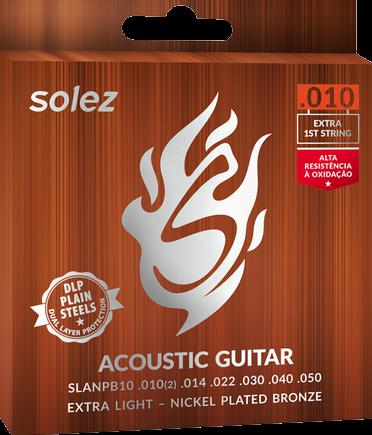 Encordoamento violão Solez  10/50 SLANPB10