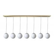 Pendente 7 Esferas de Vidro 12cm