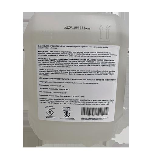 Álcool Gel Atomic 70 - 5L
