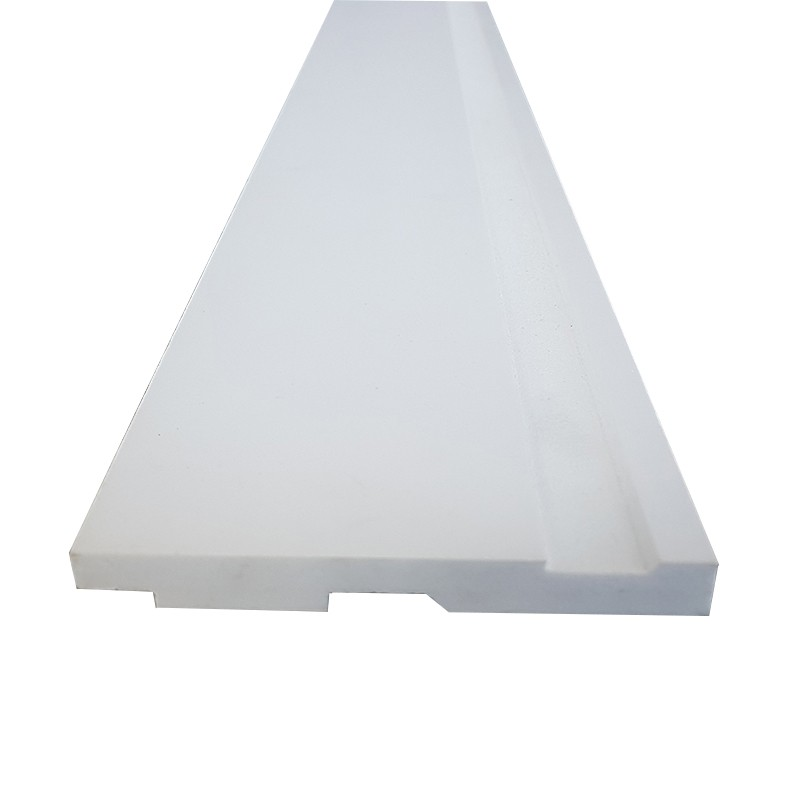 Rodapé de Poliestireno Frisado - Branco - 10cm de altura  (10x1x240cm)