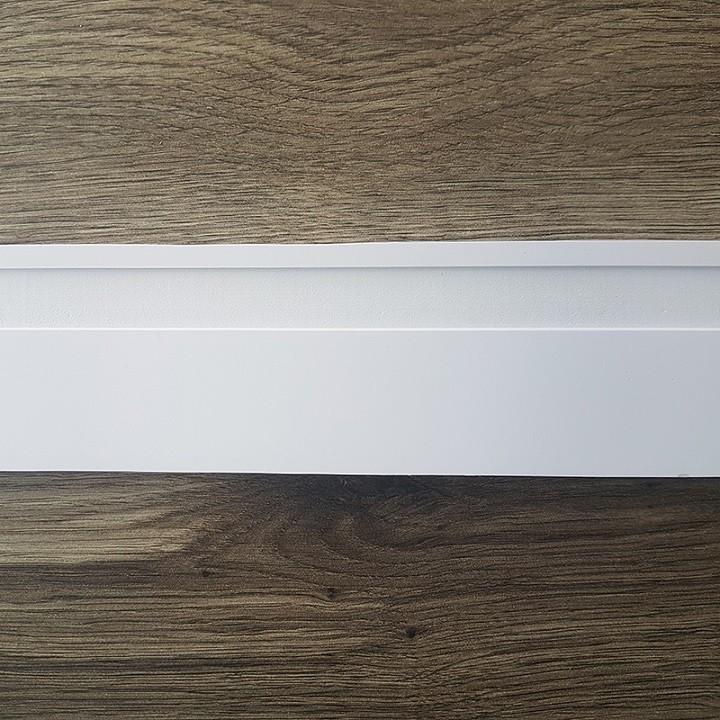 Rodapé de Poliestireno Frisado - Branco - 7cm de altura  (7x1x240cm)