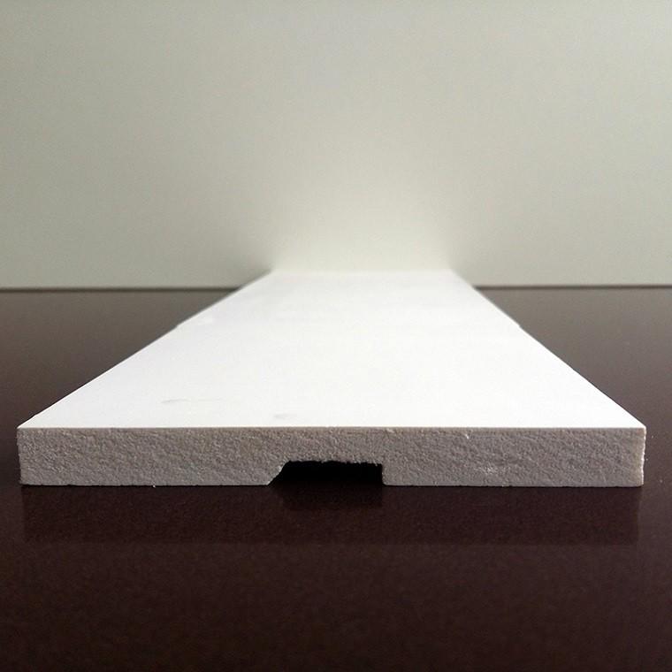 Rodapé de Poliestireno Liso - Branco - 10cm de altura  (10x1x240cm)