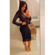 Vestido Midi Croche