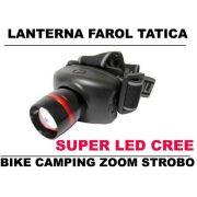 Super Lanterna Cabeça Tipo Tática Farol Bike Led Cree