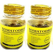 Somatodrol 120 Cápsulas 2 Potes Ativador + Testosterona Hgh