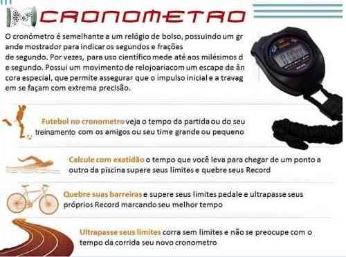 Cronômetro Esportivo Resitente Água Frete Grátis  - ACTIONLTDA
