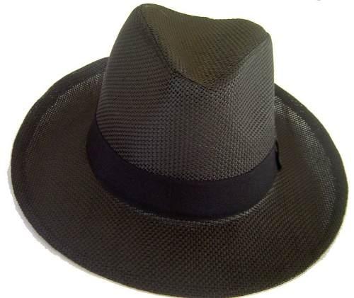 Chapéu Fedora Panamá Preto Unissex