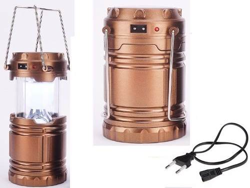 Lampião Solar Led Usb Lanterna Bateria Recarregavel Retratil  - ACTIONLTDA
