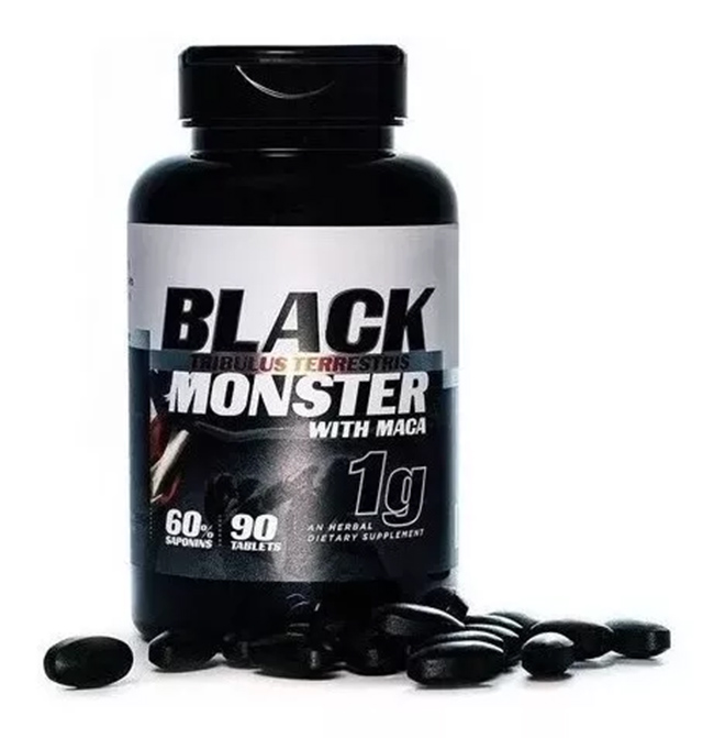 Tribulus Terrestris Black Monster 1gr Com Maca Importado