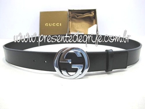 CINTO GUCCI BASIC COURO UNISSEX