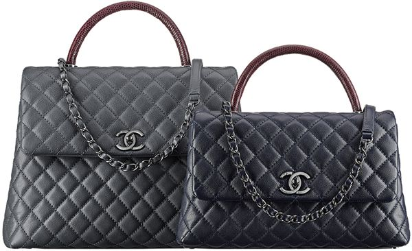 BOLSA CHANEL COCO LIZARD GRAINED FLAP HANDLE A92992