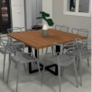 Mesa de Jantar quadrada 8 lugares