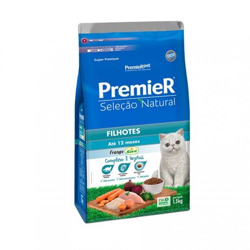 Ração Premier Seleção Natural Frango Korin para Gatos Filhotes 1,5kg