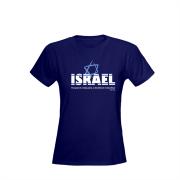 CAMISA ISRAEL - MODELO:BABY LOOK - COR:AZUL