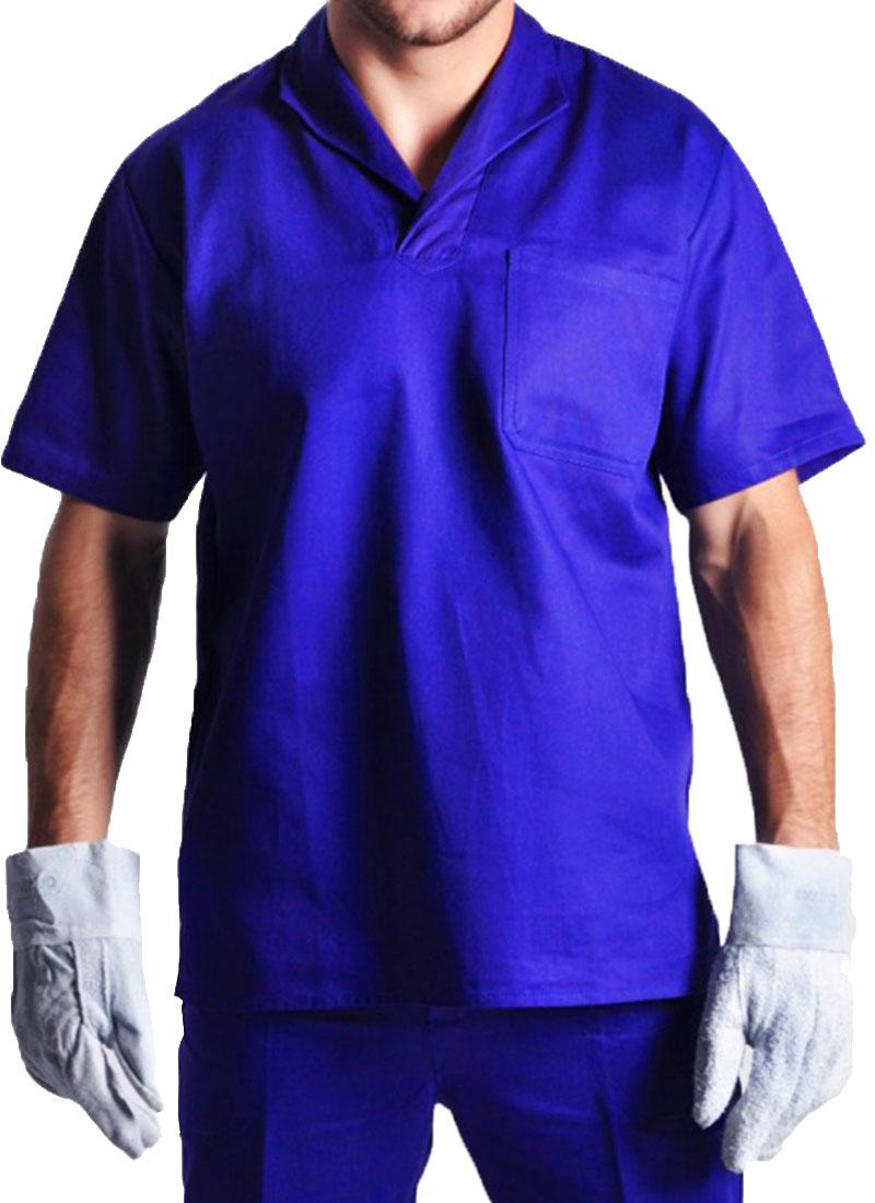 Camisa Profissional Gola Italiana Manga Curta Azul