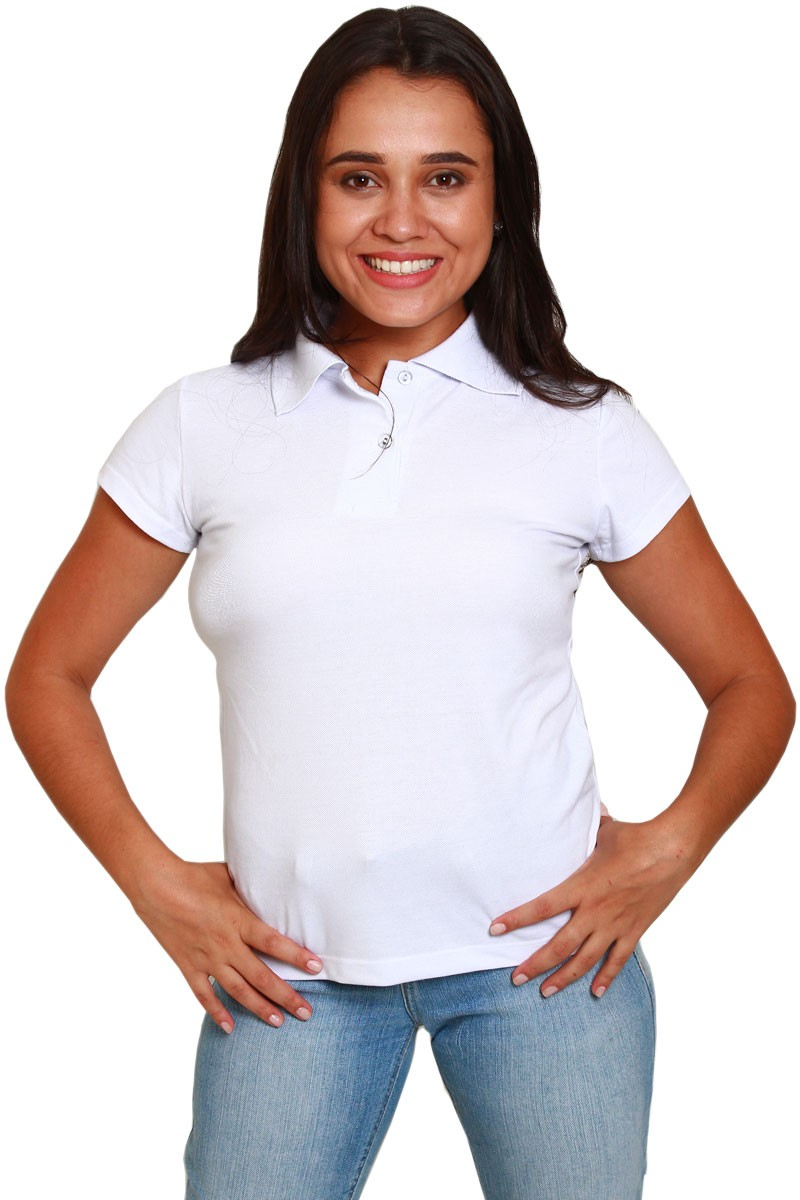 Polo Feminina - Branca