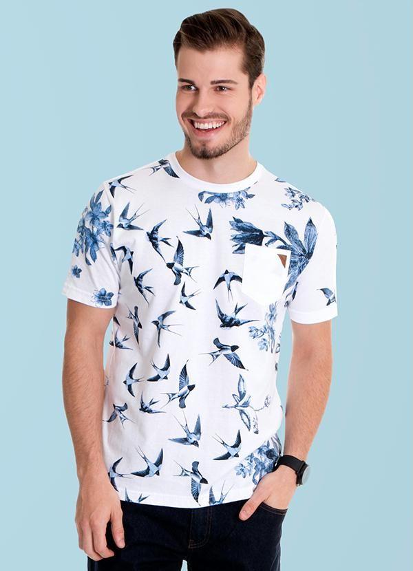 Camisa manchada azul