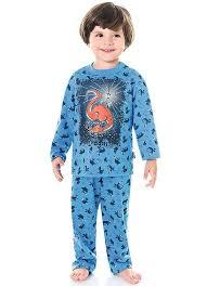 Pijama infantil azul masculino