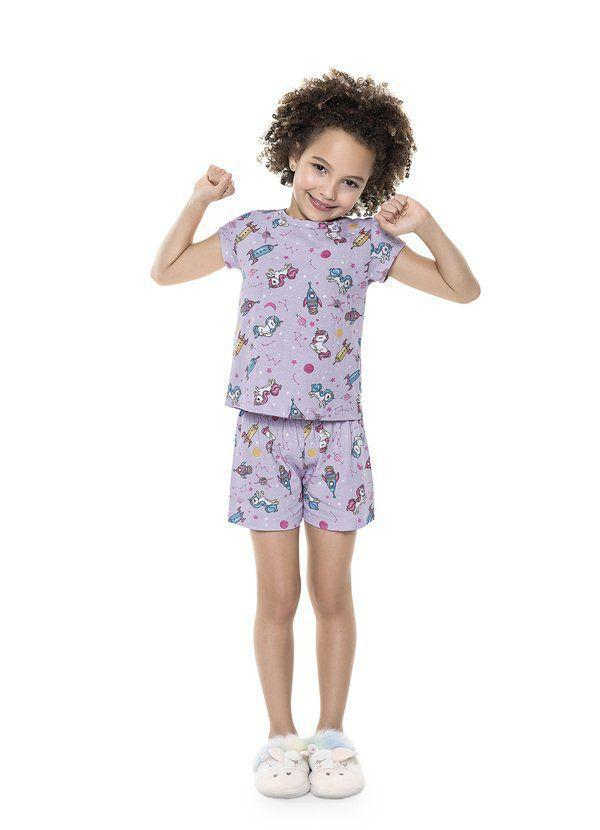 Pijama Infantil Verão Unicórnio, 2 peças - Fakini