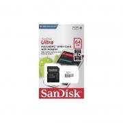 Cartão de Memória 64GB Classe 10 Sandisk Ultra