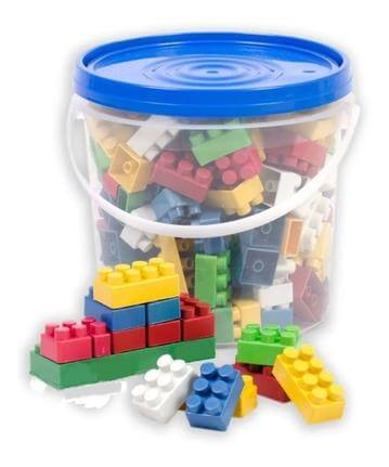Balde Blocos Educativos 88 Peças - Toys