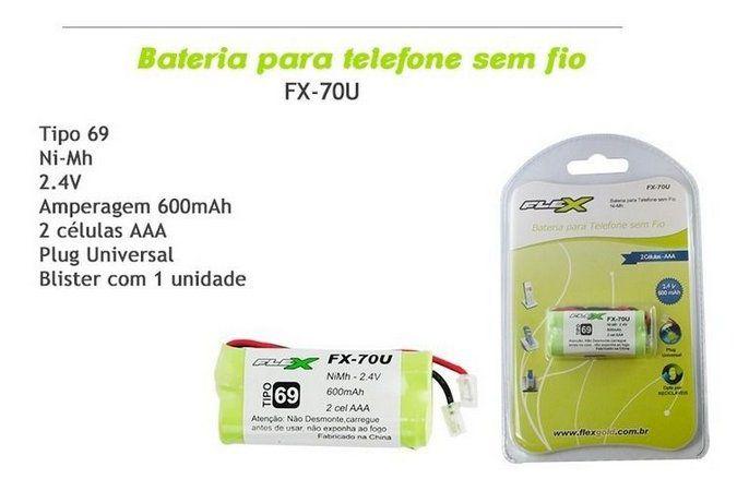 BATERIA TELEFONE S/FIO Ni-Mh FX-70U FLEX