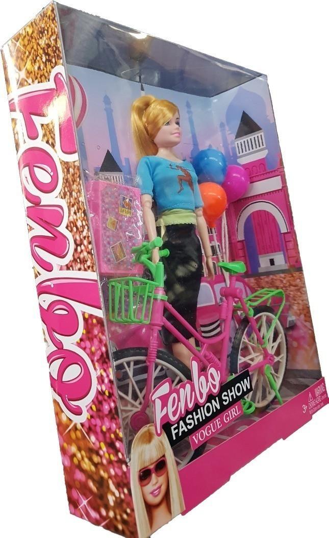 Boneca Fashion Show Vogue Girl com Bicicleta LT056